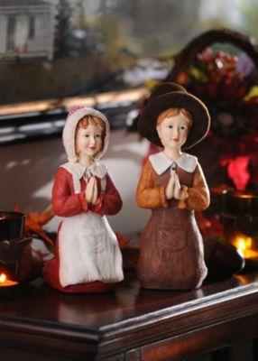 Praying Pilgrim Statues, Set of 2 | Kirkland's