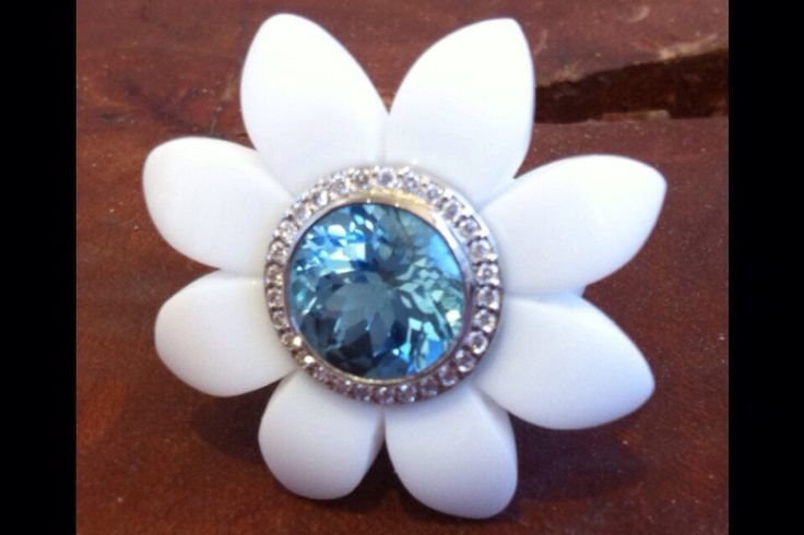 Bespoke Blooms made using high tech polymers combined with 18ct gold and diamonds