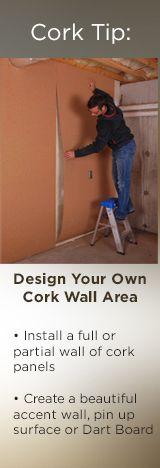 Tips on installing cork walls