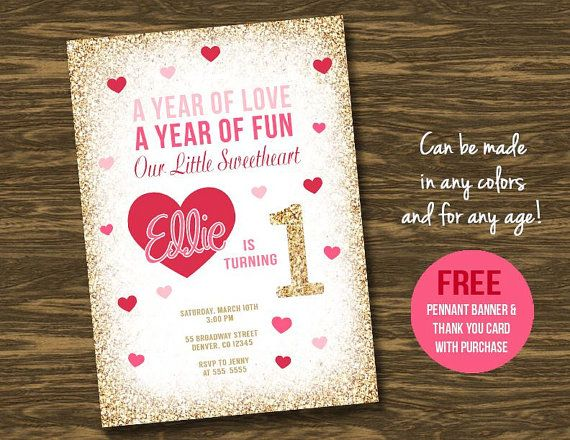 Sweetheart Birthday Invitation Printable FREE by SweetGumdrop