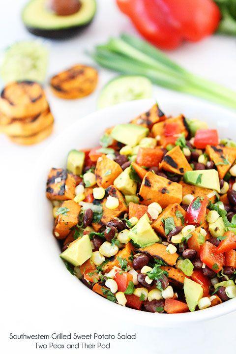 Southwestern Grilled Sweet Potato Salad on twopeasandtheirpod.com
