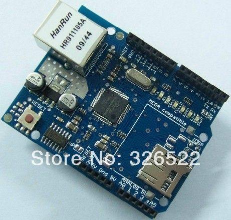 UNO Щит Ethernet Shield W5100 R3 UNO Mega 2560 1280 328 УНР R3 <только W5100 Развития борту ДЛЯ arduino