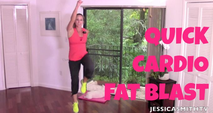 11-Minute Quick Cardio Fat Blast - Jessica Smith TV Fitness YouTube Workout Videos