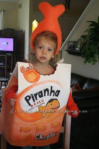 easy last minute goldfish crackers costume - Last Minute Toddler Halloween Costumes