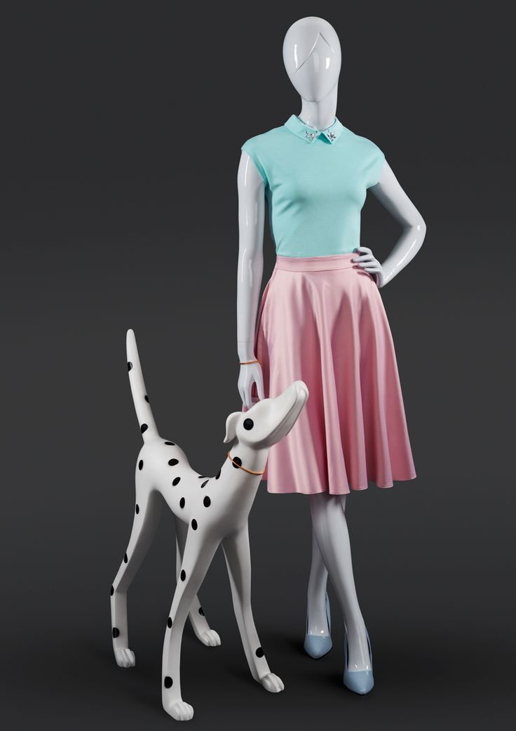 MISS MOLLY is a collection of young, dynamique female mannequins. Their distinctive feature is the frame of their head and sculpted hair line. #MoreMannequins #FemaleMannequin #boutique #dalmatians