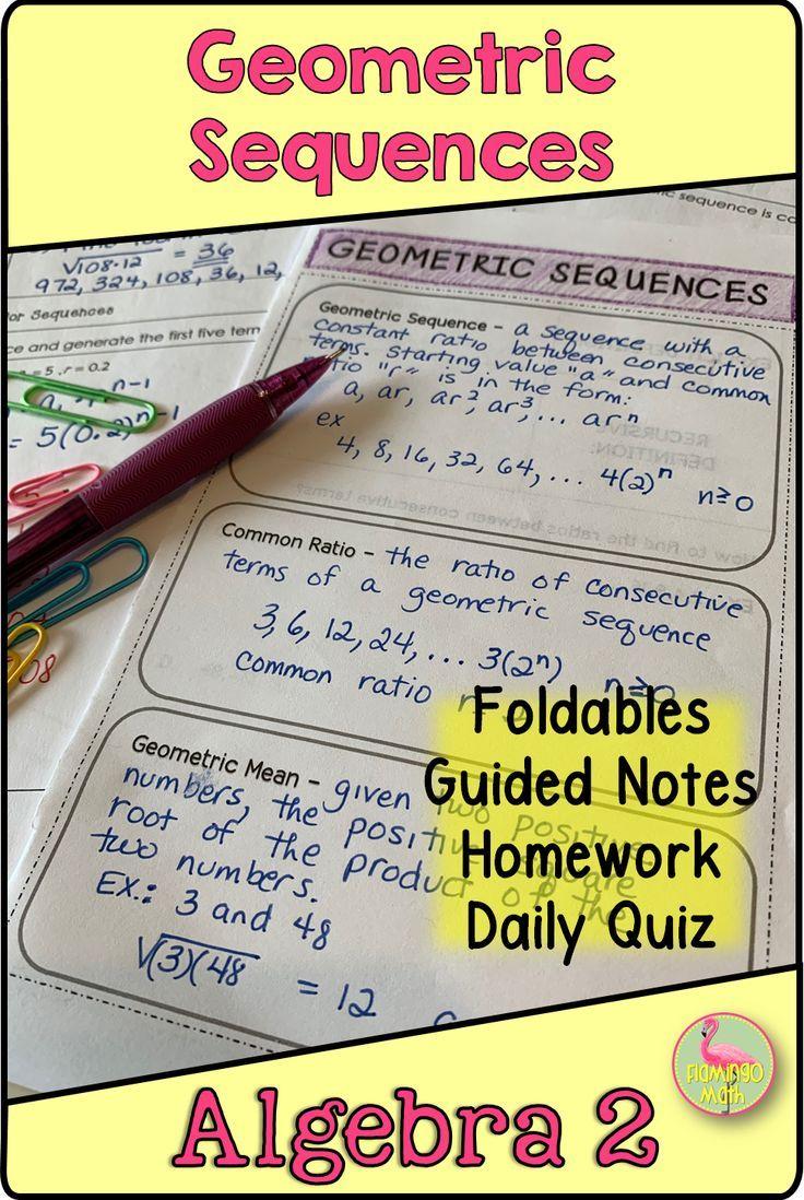 Geometric Sequences (Algebra 2 - Unit 9) | Secondary Math