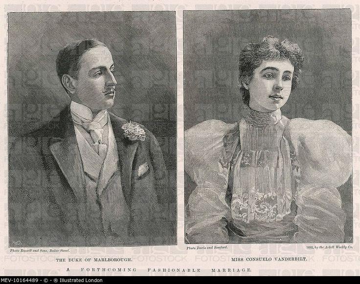 Charles Spencer-Churchill, 9th Duke of Marlborough pictured with his bride Consuelo Vanderbilt :.... MEV-10164489 © ® Illustrated London