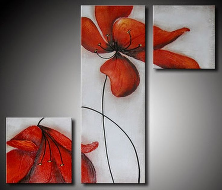 Cuadros Modernos Pinturas : Cuadros de Flores Sencillos