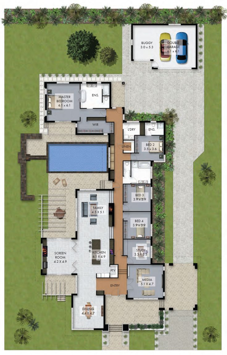 17 best ideas about 4 bedroom house on pinterest 4 for Family home plans 82230