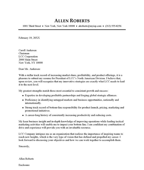 Example Cover Letter Resume - Template