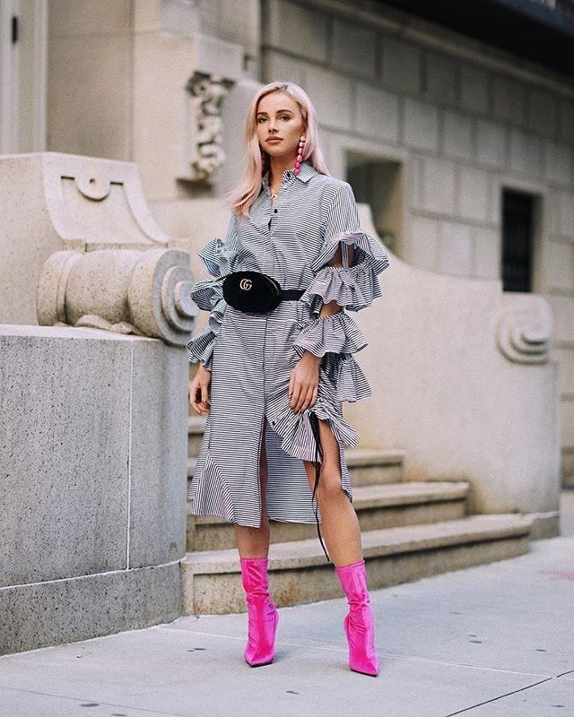 Instagram media by maffashion_official - #dress #shirt @preenbythorntonbregazzi #shoes @balenciaga #earrings #topshop #bag @gucci #ootd #NYFW #maffashioninnyc ph @krzysztof_adamek KTO OGLĄDAŁ SNAPY?