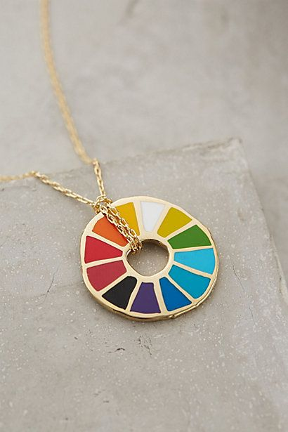 Colorwheel Pendant Necklace - anthropologie.com it's the feelings wheel... hahah