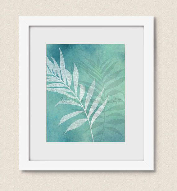 8 x 10 Palm Leaf Wall Art Tropical Print for by NaturesHeavenlyArt