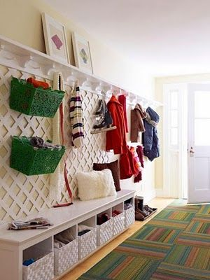 47 creative entryway and mudroom ideas - Awesome Idea Love The Lattice For Additional Moveable
