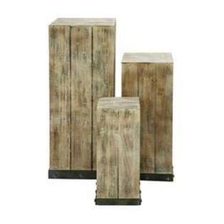 Reclaimed wood pedestals - build!