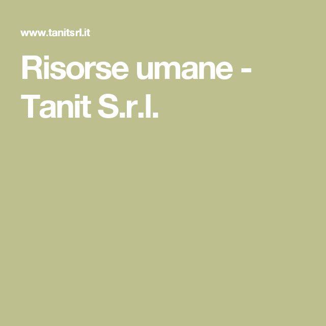 Risorse umane - Tanit S.r.l.