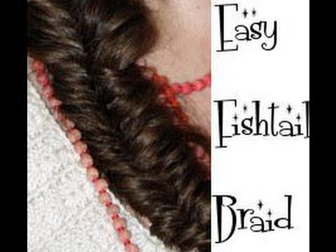 EASY fishtail BRAID plait SIMPLE fast hair tutorial long hair how to - Vintagious