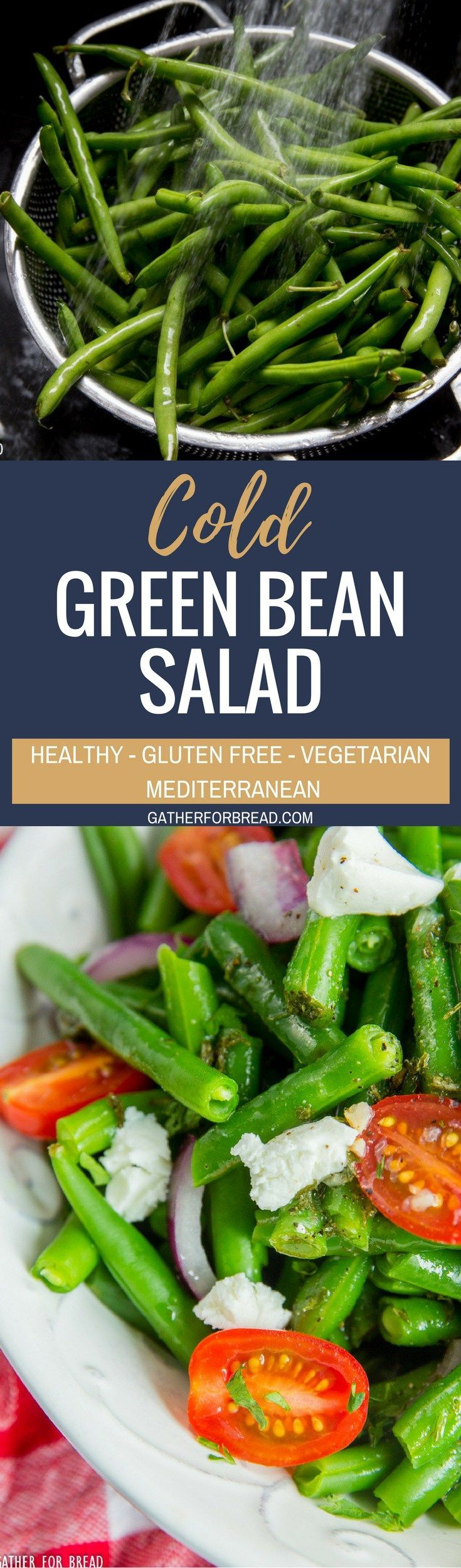 Cold Green Bean Salad - Best Marinated string bean salad recipe - made with a homemade vinaigrette, perfect healthy side dish for summer picnics, potlucks, grilling and more.