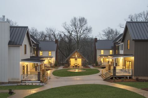 The neighborhood emphasizes traditional Ozark architecture as well as a friendlier way of living.