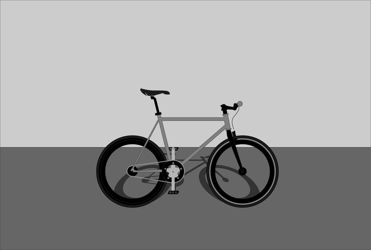 Bicycle shadow with Perspective grid tool by Zoltan Ancza