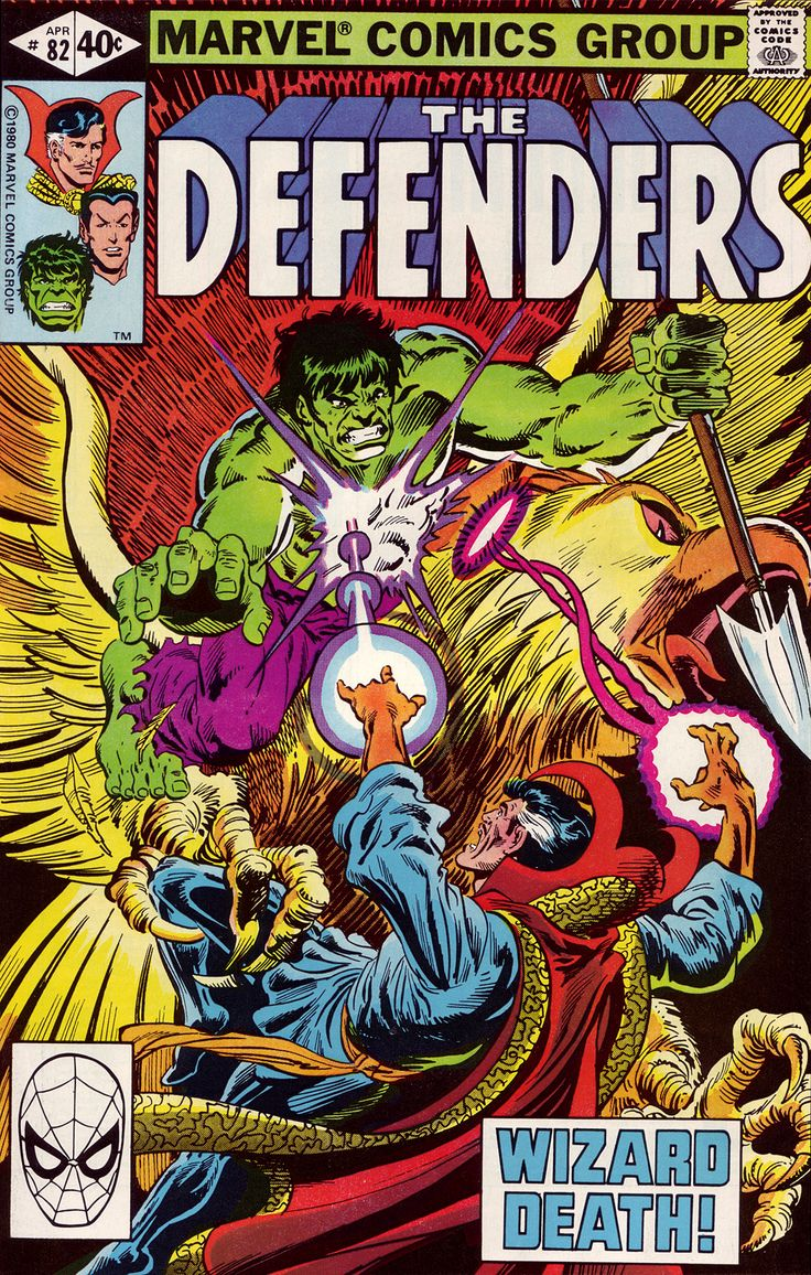 The Defenders #82 (Marvel 1980) Cover Art By Rich Buckler