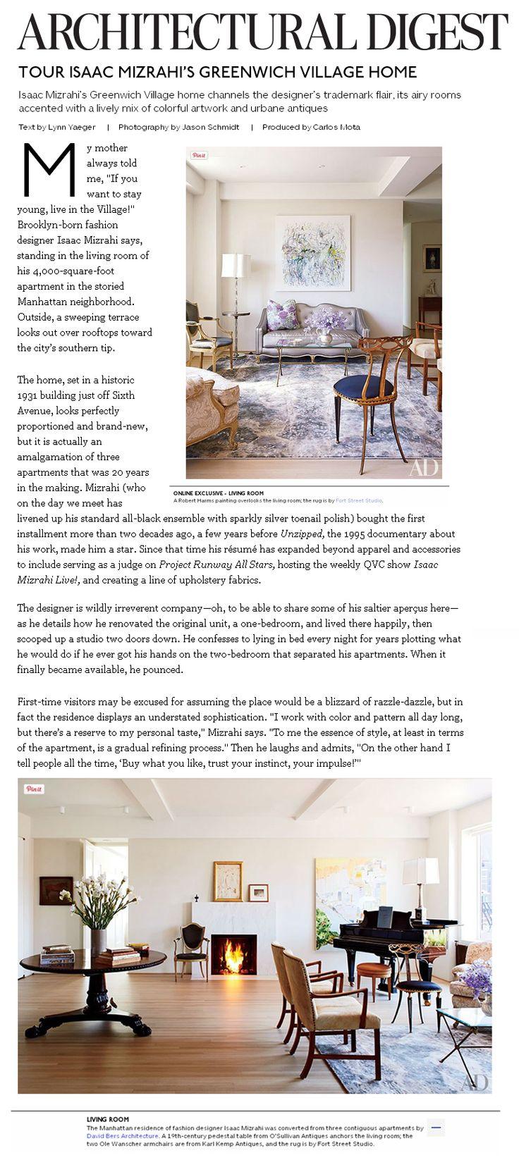 Tour Isaac Mizrahi's Greenwich Village Home in…