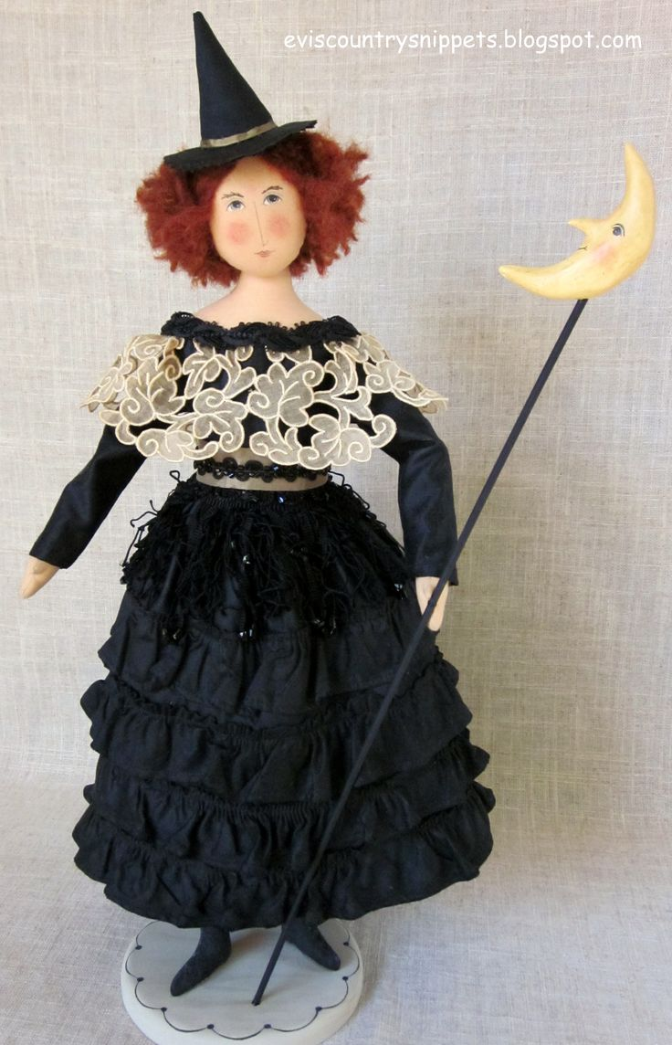 Sweet OOAK doll designed and made by me using antique fabrics and notions.