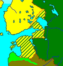 Territory lost by Sweden at peace of Nystad 1721