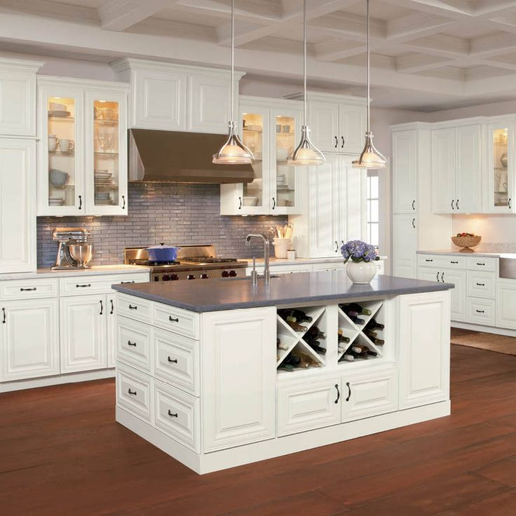 wonderful Loews Kitchen Cabinets #1: Shenandoah Mckinley 14.5-In X 14.5625-In Linen Square Cabinet Sample 97758