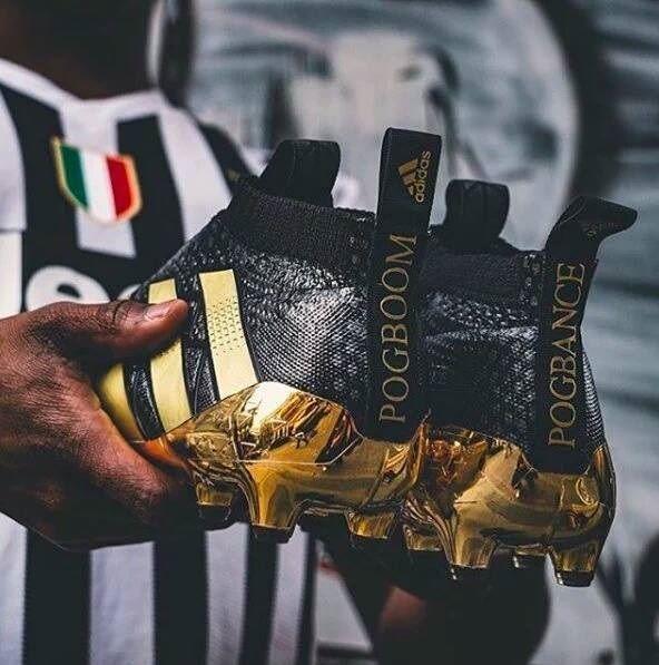 Francuski piłkarz Juventusu Turyn otrzymał nowe buty adidasa • Paul Pogba pochwalił się nowymi butami piłkarskimi • Zobacz więcej >> #pogba #football #soccer #sports #pilkanozna