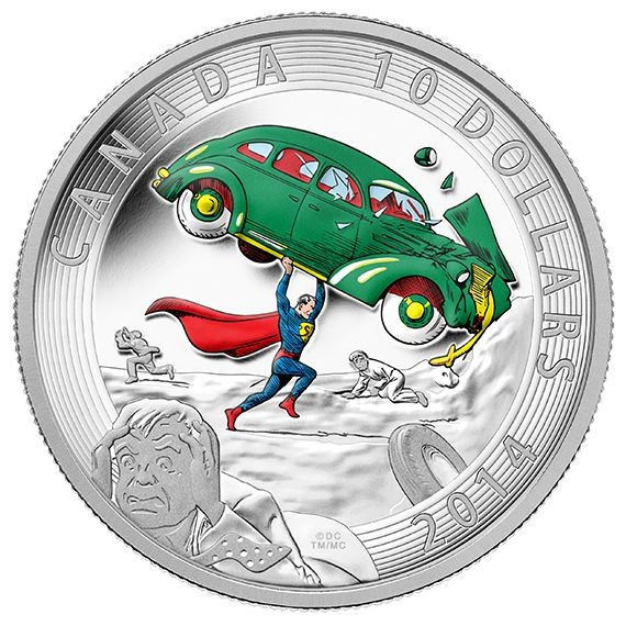 1/2 oz. Fine Silver Coin - Iconic Superman™ Comic Book Covers: Action Comics #1 from 1938 - Mintage: 10,000 (2014)