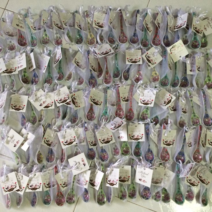 Peranakan wedding souvenir porcelain spoon