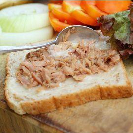 Tuna melt open sandwich