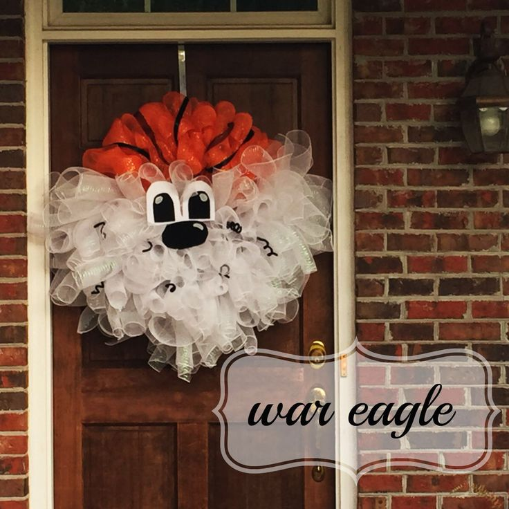 I am in LOVE with this Aubie wreath I made this weekend!! Auburn Tigers and the…