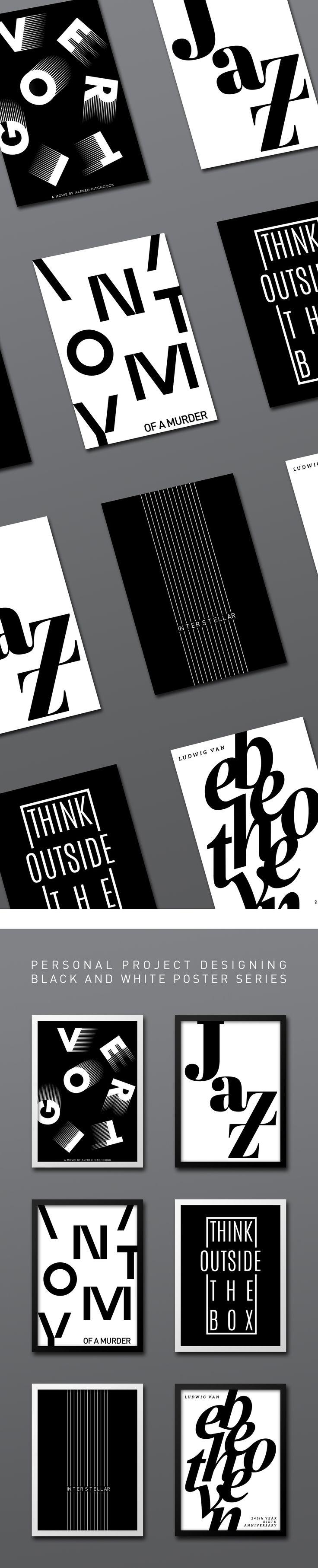 Confira este projeto do @Behance: u201cB&W Poster Seriesu201d https://www.behance.net/gallery/56940945/B-W-Poster-Series