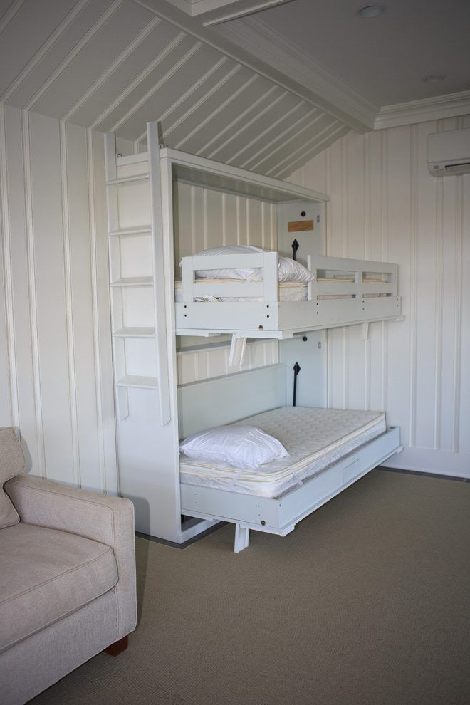 new york murphy bunk beds with medium tone wood panel bedroom beach style and maintenance free cabinetry boathouse pvc