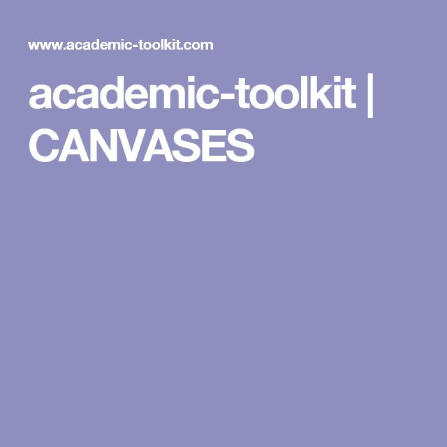 academic-toolkit | CANVASES
