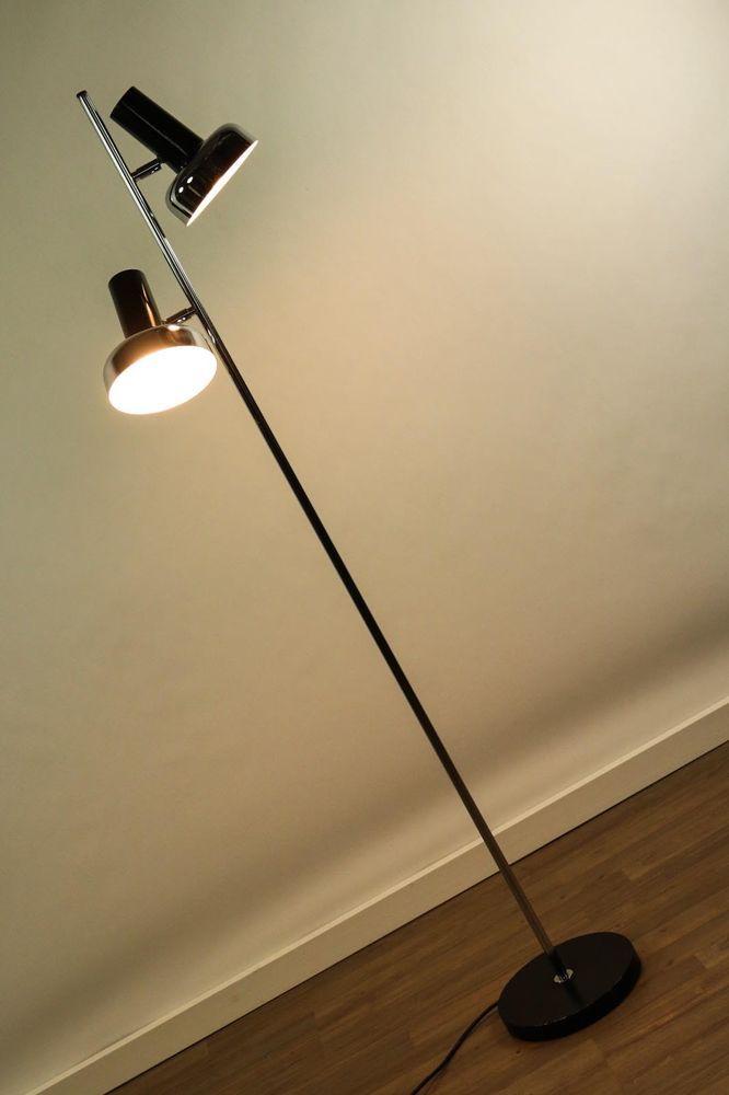 Boden Leuchte Strahler Spot Steh Lampe Vintage 60er 70er Jahre