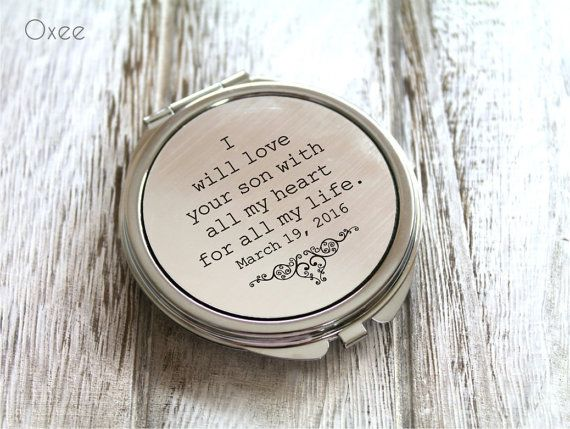 The 25 best groom gift from bride ideas on pinterest wedding personalized engraved pocket mirror compact mirror wedding gift mother of the groom gift negle Images