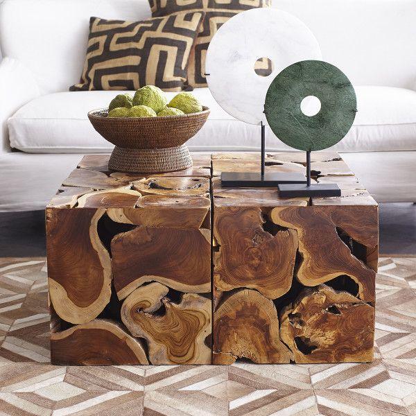 Teak Cube Coffee Table