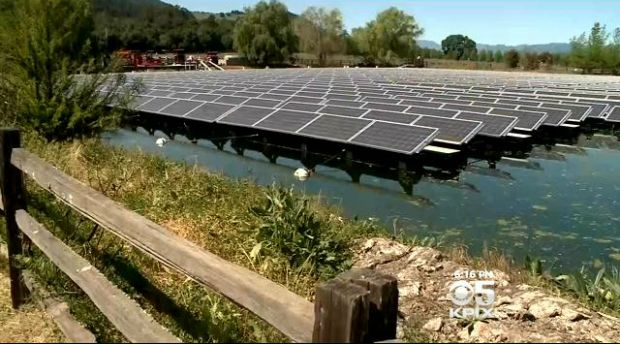 4.1.15 - Floating Solar Panels Conserve Water While Flooding Grid With Energy - http://sanfrancisco.cbslocal.com/2015/04/01/solar-water-floating-panels/