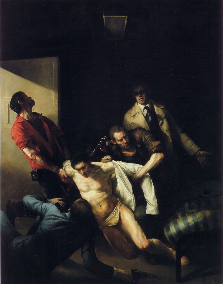 The Murder of Andreas Baader by  Odd Nerdrum, 1977.