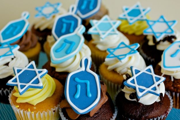 decorated for Chanukah by Cake Suite, Westport, CT. Sourcing Chanukah meals and treats away from home!