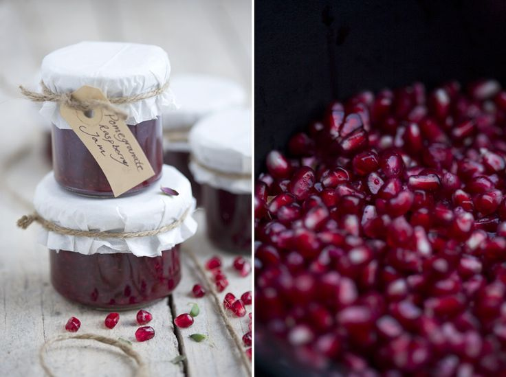 must can this year - pomegranate, raspberry, & thyme jam