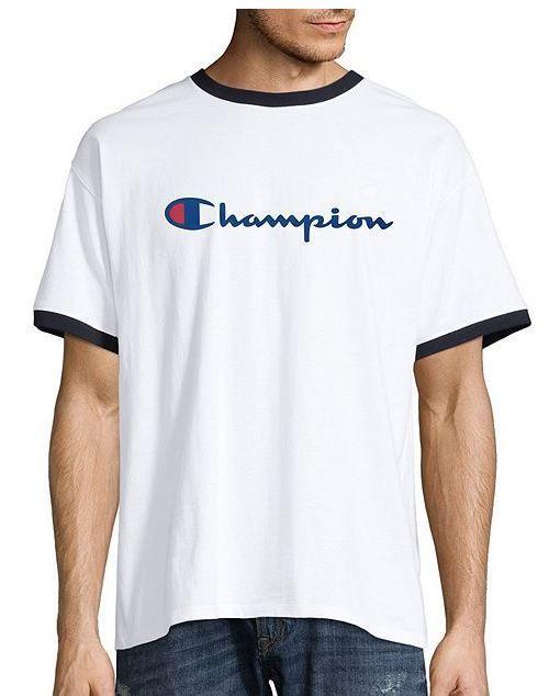 3c3dc204f Champion Men's Classic Jersey Ringer T-Shirt - Script Logo (GT20H Y06794)