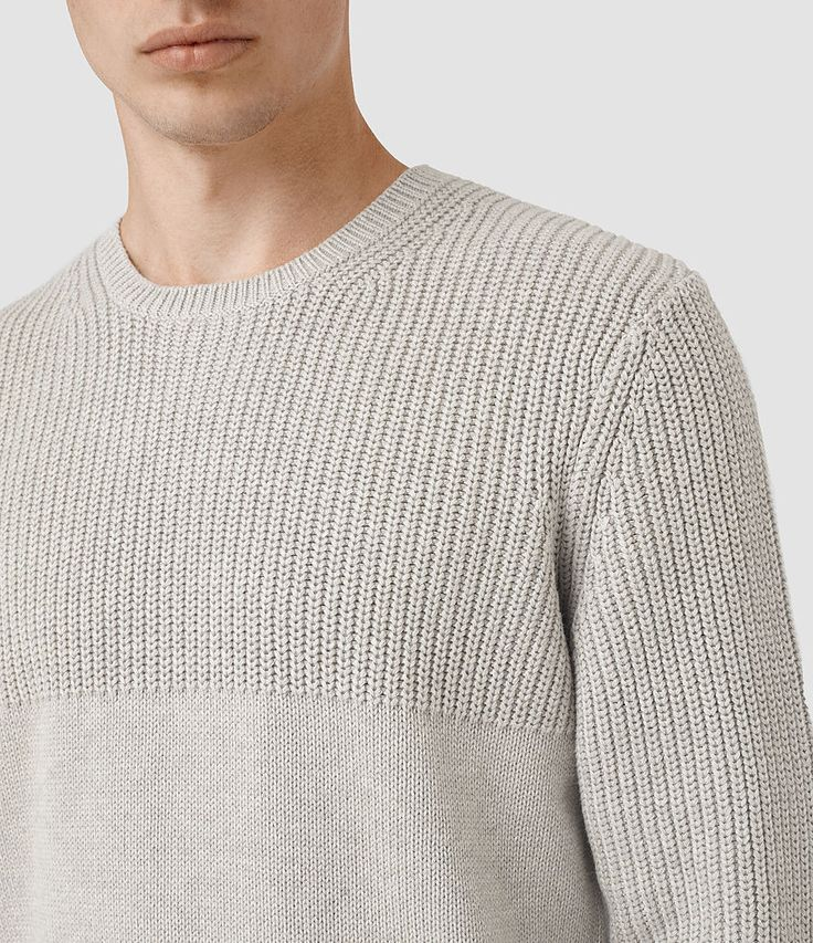 Men's Garr Crew Jumper (Taupe Marl) - product_image_alt_text_2