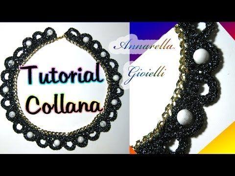 Tutorial collana uncinetto con catena | How to crochet a necklace - YouTube