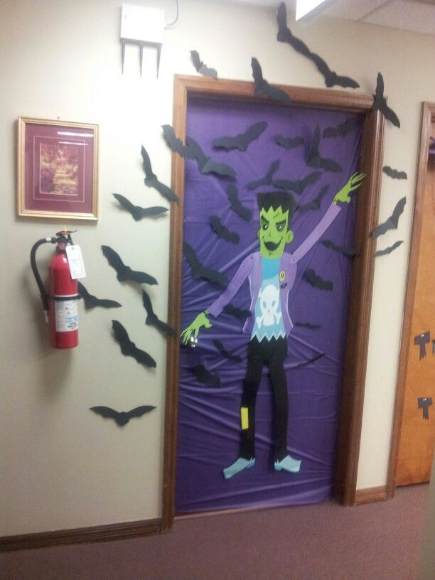 Decorating Ideas > Halloween Office Door Decoration! I Created These Paper  ~ 110517_office door decorating ideas halloween