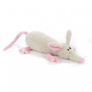 Bílá myška s roztomilým růžovým čumáčkem a pacičkami je pěkná čmuchalka - jak zavětří vůni sýra, tak se nezná.