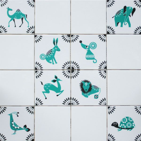 Mibo Tile Tattoos Blue Mosaic Animals On Www 2jane